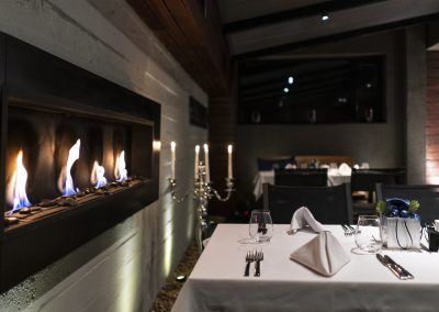 Bistro fireplace