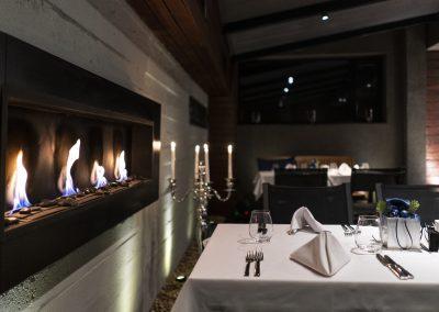 Bistro fireplace